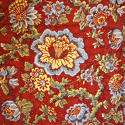 Circa 1800 French madder red and pastel large quilt - picture 8
