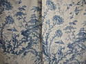 Pair of 18th century French Chinoiserie toile bed hangings - picture 1