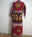 Late 19th century Uzbek silk ikat chapan robe - picture 1