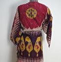 Late 19th century Uzbek silk ikat chapan robe - picture 4