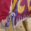 Late 19th century Uzbek silk ikat chapan robe - picture 6