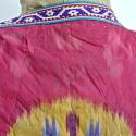 Late 19th century Uzbek silk ikat chapan robe - picture 8