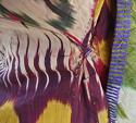 Late 19th century Uzbek silk ikat chapan robe - picture 9