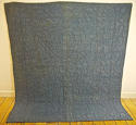 Early 19th century French blue bourette silk quilt - picture 1