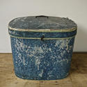 Pair of French 19th century blue hatboxes - picture 7