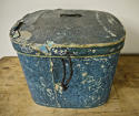 Pair of French 19th century blue hatboxes - picture 8