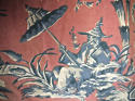 Pair of early 20th century large-scale Chinoiserie curtains - picture 3