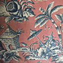 Pair of early 20th century large-scale Chinoiserie curtains - picture 8