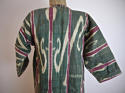 Late 19th century Uzbek silk ikat chapan robe - picture 2