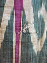 Late 19th century Uzbek silk ikat chapan robe - picture 7