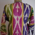 Late 19th century Uzbek silk ikat chapan robe - picture 10