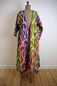 Late 19th century Uzbek silk ikat chapan robe - picture 2
