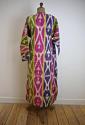 Late 19th century Uzbek silk ikat chapan robe - picture 3