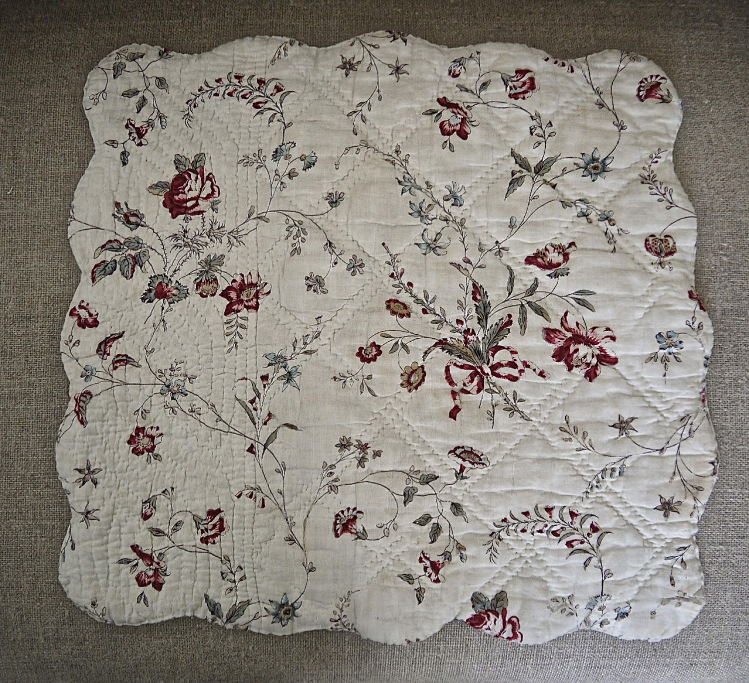 Jouy Floral Cotton Square French 18th centry