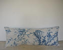 18th century French Chinoiserie toile cushion - picture 1