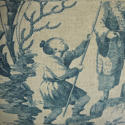 18th century French Chinoiserie toile cushion - picture 2
