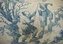 18th century French Chinoiserie toile cushion - picture 3