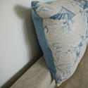 18th century French Chinoiserie toile cushion - picture 9