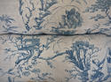18th century French Chinoiserie blue toile cushion - picture 10