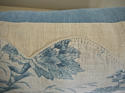 18th century French Chinoiserie blue toile cushion - picture 5