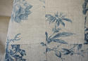 18th century French Chinoiserie blue toile cushion - picture 6