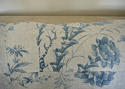18th century French Chinoiserie blue toile cushion - picture 7