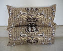 Pair of 1980s Brunschwig & Fils brown toile cushions - picture 2
