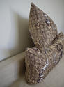 Pair of 1980s Brunschwig & Fils brown toile cushions - picture 4