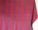 Late 18th century French indigo and red striped small quilt - picture 1