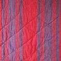 Late 18th century French indigo and red striped small quilt - picture 2