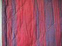 Late 18th century French indigo and red striped small quilt - picture 4
