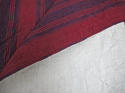 Late 18th century French indigo and red striped small quilt - picture 5