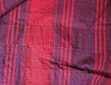Late 18th century French indigo and red striped curtain - picture 5
