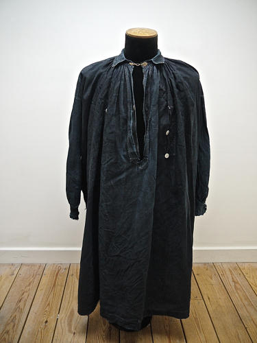 Late 19th century French indigo linen Biaude