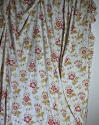 Late 19th century French faded print cotton Curtain - picture 1