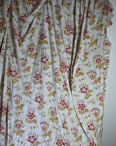 Late 19th century French faded print cotton Curtain