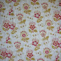 Late 19th century French faded print cotton Curtain - picture 2
