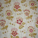 Late 19th century French faded print cotton Curtain - picture 3