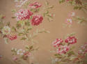 Early 20th century French pretty red floral cotton cushion - picture 2
