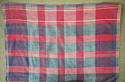 19th century French Faded Indigo and Red Mouchoir - picture 2