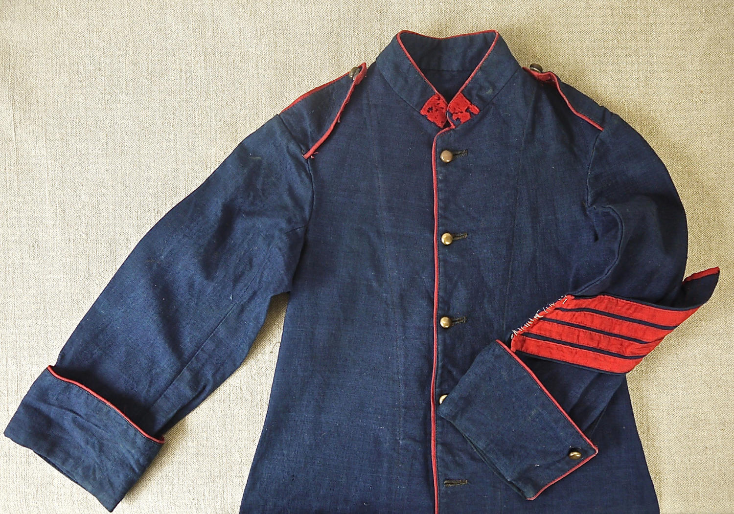 Late 19th century French childs pompier jacket