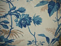 19th century French blue fern leaves cushion - picture 2