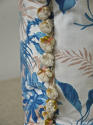 19th century French blue fern leaves cushion - picture 5