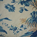19th century French blue fern leaves cushion - picture 6