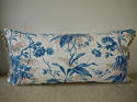 19th century French blue fern leaves cushion - picture 7