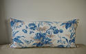 19th century French blue fern leaves cushion - picture 8