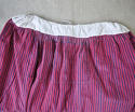 19th century French indigo striped cotton Skirt - picture 3