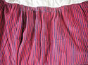19th century French indigo striped cotton Skirt - picture 4