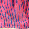 19th century French indigo striped cotton Skirt - picture 5