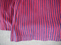 19th century French indigo striped cotton Skirt - picture 6